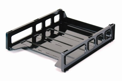 Officemate Front Load Stacking Tray, Letter Size,  Black, 1 Tray (21032)