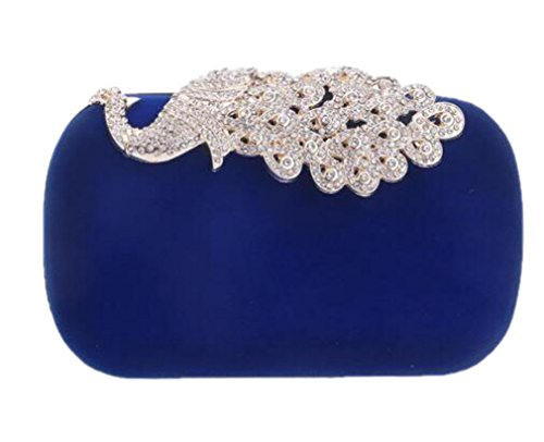 Shoulder Wedding Evening Party Bags Women Evening Color Ym1009blue Chain Clutch Velvet Bags Bag Candy ABRqYBfcd