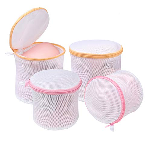 BAGAIL Laundry Bag Mesh Wash Bag for Intimates Lingerie and Delicates with Premium Zipper (4 Set)