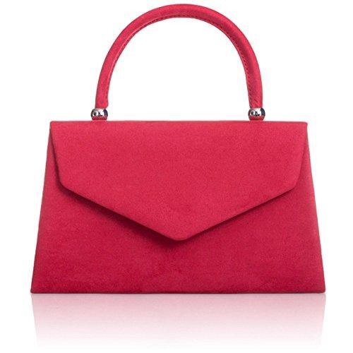 Xardi London nuovo palmare borse da donna in pelle scamosciata sintetica donne sera frizione borse Red