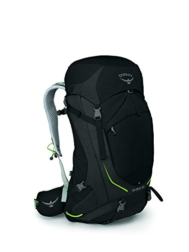 Osprey Packs Osprey Stratos 50 Backpack, Black, S/M, Small/Medium