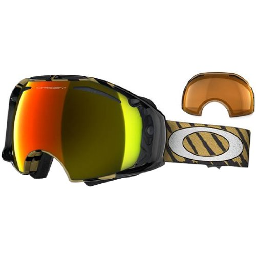 Oakley Shaun White Airbrake Highlight Adult Special Editions Signature Series Snocross Snowmobile Goggles Eyewear - Gold/Fire Iridium, Persimmon / One Size Fits All by Oakley