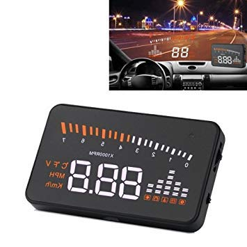 Uniqus X5 3.5 inch Car OBDII EUOBD HUD Vehicle-Mounted Head Up Display Security System, Support Speed & Water Temperature & Speed Alarm & Battery Voltage, etc