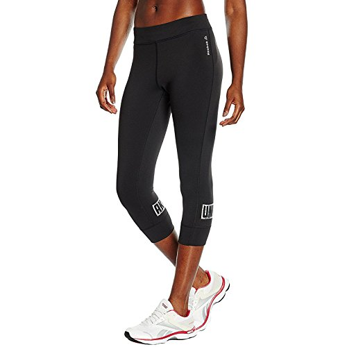 Reebok Running Tights - Reebok Womens Dance Gym Running 3/4 Capri Tight Pants Bottoms Leggings - M