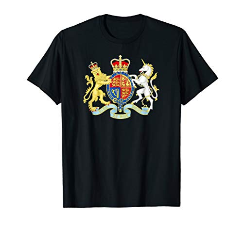 Queen Elizabeth II T-Shirt Royal Coat of Arms -