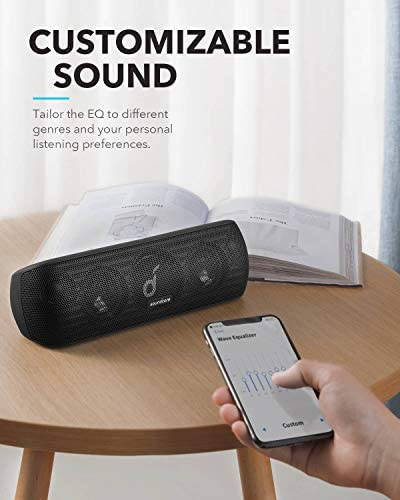 Anker Soundcore Motion+ Bluetooth Speaker with Hi-Res 30W Audio, Extended Bass and Treble, Wireless HiFi Portable Speaker with App, Customizable EQ, 12-Hour Playtime, IPX7 Waterproof, and USB-C 410AiAa005L