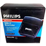 philips (FOR COMPACT CAMCORDERS ONLY) vhs-c (compact vhs tape) rewinder. Helps Prolong your Camcorder life. Rewinds tapes in two minutes. Auto Shut off.