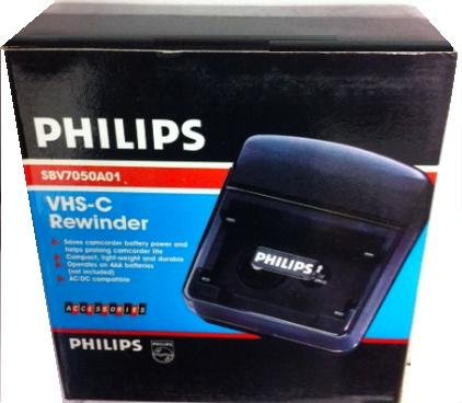 Check Out This philips (FOR COMPACT CAMCORDERS ONLY) vhs-c (compact vhs tape) rewinder. Helps Prolon...