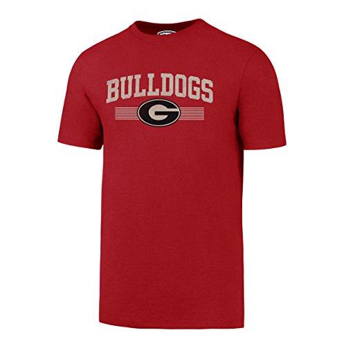 (NCAA Georgia Bulldogs Men's OTS Rival Distressed Tee, Medium, Red)