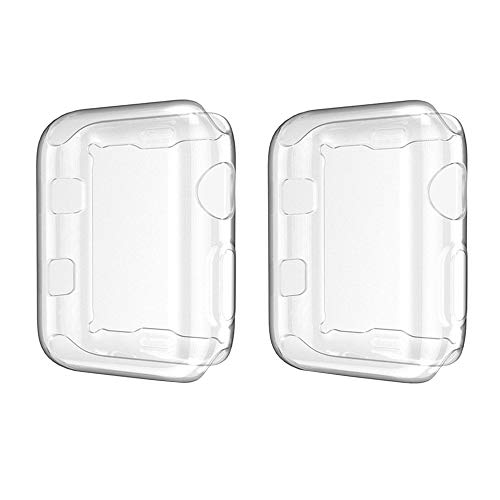 [2Pack] Wening Compatible for Apple Watch Case 38mm, Soft Texture TPU all-around Clear Cover for Apple Watch Series 3, Series 2, Nike+, Sport, Edition ()