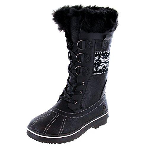 - Northside Women's Bishop Winter Snow Boot, Black/Nordic, 10 B(M) US