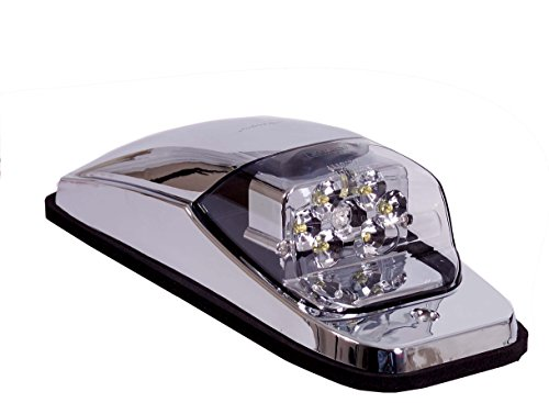 - Maxxima M27011YCL Amber LED Clear Lens Chrome Upper Cab Marker Light