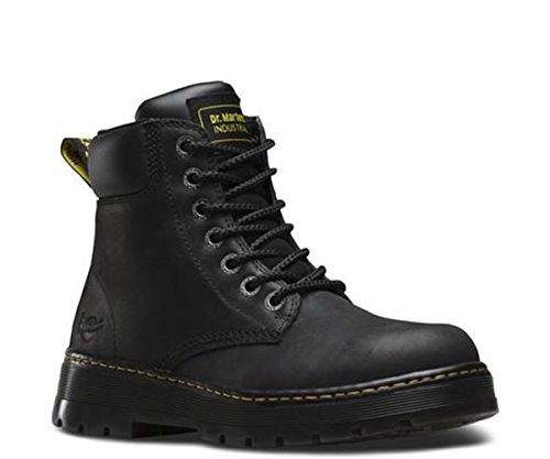 Eyelet Black Leather (Dr. Martens Men's Winch Work Boots, Black Leather, 10 M UK, 11 M US)