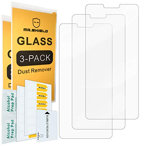 [3-Pack]- Mr.Shield for LG V40 ThinQ [Upgrade Maximum Cover Screen Version] [Tempered Glass] Screen Protector [Japan Glass with 9H Hardness] with Lifetime Replacement