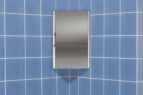Badezimmer Eckspiegelschrank Weiß 30x67x41cm: Amazon.de: Küche ...