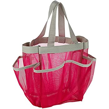 Amazon.com: 7 Pocket Shower Caddy Tote, Pink - Keep your shower ...