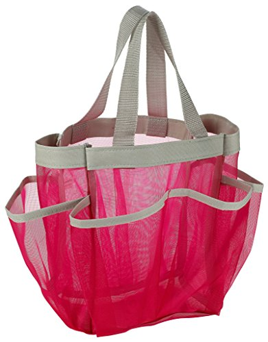 Pocket Shower Caddy Tote Pink product image