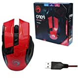 MARVO G909 Gaming Mouse USB Wired Gaming Mice,Red