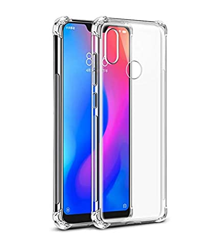 reputable site 2eeeb a656e Tarkan Shock Proof Protective Soft Back Case Cover [Bumper Corners with Air  Cushion Technology] for Redmi 6 Pro (Transparent