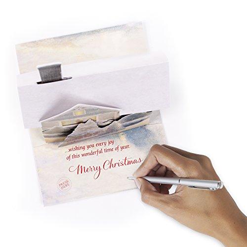 Hallmark Christmas Greeting Card with Light and Song Card (Displayable Dimensional Thomas Kinkade House) Photo #2