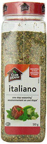 - Club House, Quality Natural Herbs & Spices, One Step Seasoning, Italiano, 510g (17.99oz), Product of Canada
