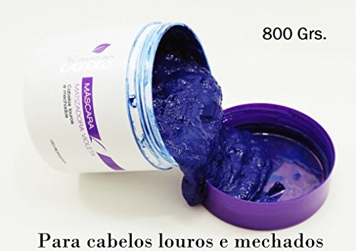 The ORIGINAL Brazilian Hair Botox Blond for Platinum Hairs or Highlighted Blondes - 800gr - Matizante Mattefying Violet Hair Mask - BTX Bottox! by Senses