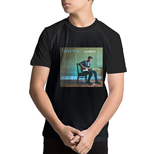 ddc97d6a Men's Classic Short Sleeve T-Shirts Black for Kids Youth, Shawn Mendes  Illuminate