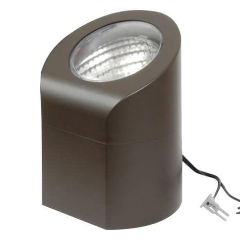 - Low Voltage Aged Brass 50-Watt Above Ground Industrial Light