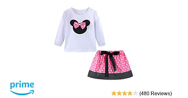 458cee289 Amazon.com  Mud Kingdom Little Girls Clothes Sets Cute Outfits Polka ...