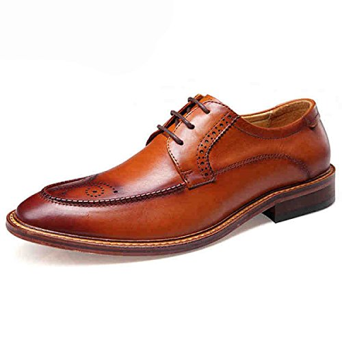 Pour GRRONG brown GRRONG Chaussures Chaussures Chaussures Hommes Styliste Cheveux Affaires Sa05WqRx
