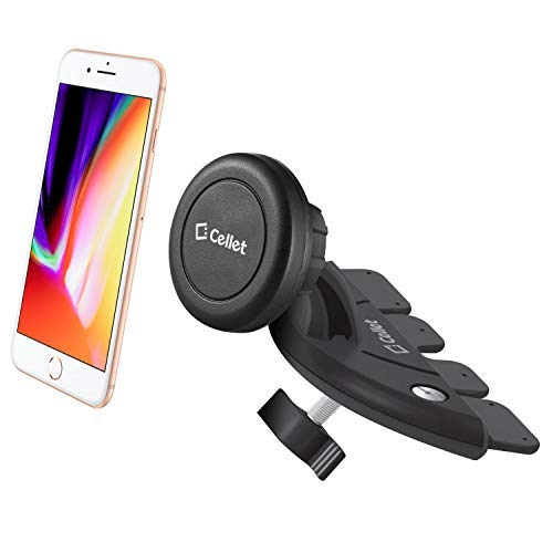 (Cellet Super Strong Magnetic, CD Slot Car Mount Phone Holder - Compatible for Samsung Note 9/8/5, Galaxy S9/S9+/S8/S8 Plus/S7/S6 iPhone Xs/Xs Max/Xr/X/8/8Plus/7, LG Motorola HTC ZTE All Smartphones)