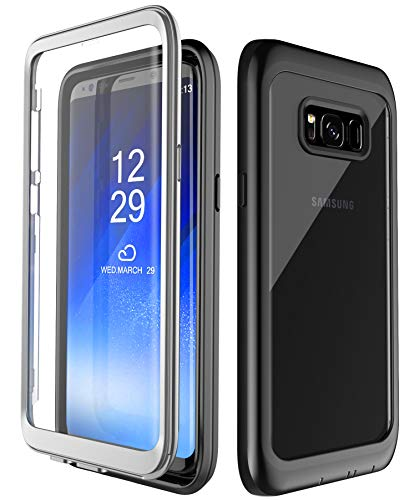 - Samsung Galaxy S8+ Plus Case, SNOWFOX Full-Body Protection Rugged Clear Bumper Case with Built-in Screen Protector for Samsung Galaxy S8+ Plus 2017 Release
