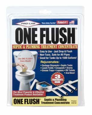 Pro Lab ON102 One Flush Septic & Plumbing Treatment Concentrate 3 Count