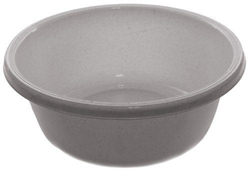 Ybm Home Round Plastic Wash Basin 1147 (2, White with Dots)