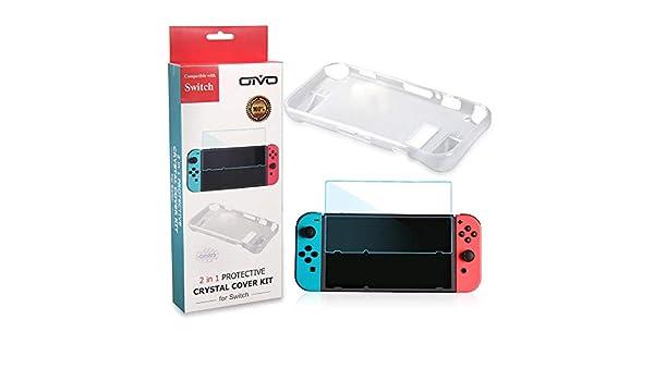 MYAMIA Funda Protectora 2 En 1 Funda Protectora De TPU Fundas para Nintendo Switch NS Switch Consola De Juegos-Blanco: Amazon.es: Hogar
