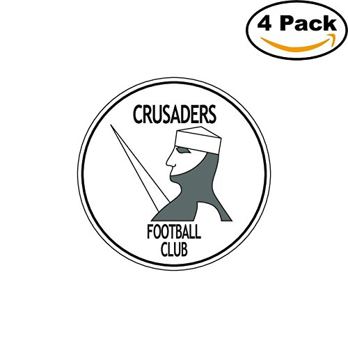 FC Crusaders Belfast Ireland Soccer Football FC Decal Logo 4 Stickers - Crusader Foot