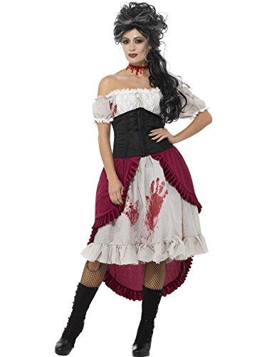 Smiffy's Women's Victorian Slasher Victim Costume, Grey, (Ladies Halloween Costumes 2017 Uk)