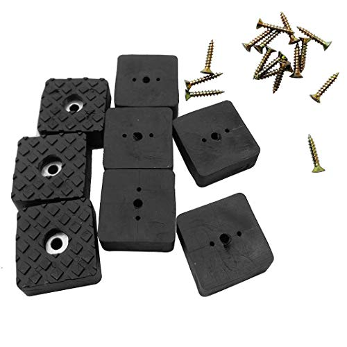 Btibpse Rubber Feet Pads Non Slip Non Skid Legs Pad for Table Desk Chair and Sofa 24 PCS (Black Square 22mm)