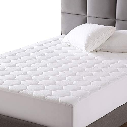 "EXQ Home Mattress Pad Quilted Mattress Protector Fitted Sheet Mattress Cover for Bed Stretch Up to 18""Deep Pocket (Breathable)"