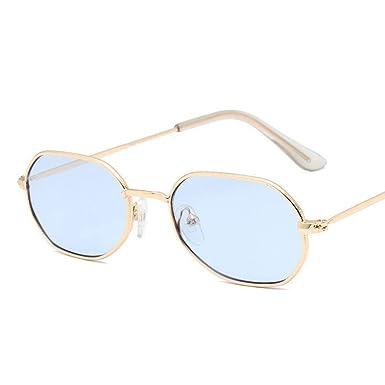 SUGLAUSES Gafas de sol Metal Ocean Lens Gafas De Sol Mujer ...