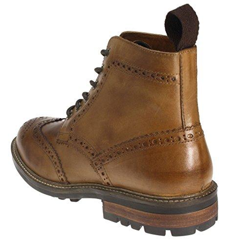 Bronzage Chaussures Tape Men's Brun Cuir Red Devlin IHZ1Xp