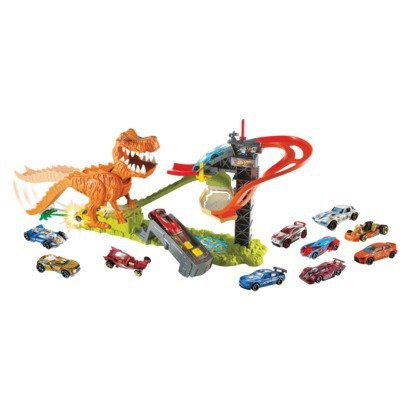 Hot Wheels T-Rex Takedown Playset With 18 Cars for sale  Delivered anywhere in USA