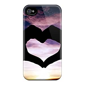 Hot HqWHuxf789foFvZ Case Cover Protector For Iphone 4/4s- Heart Hand