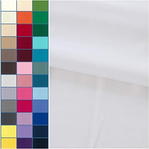 COTTONVILL 20count Cotton Solid Quilting Fabric (3yard, White)