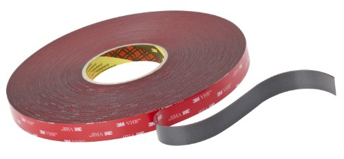 3M VHB Tape 4611 Gray, 1 in x 36 yd 45.0 mil (Case of 9) by 3M