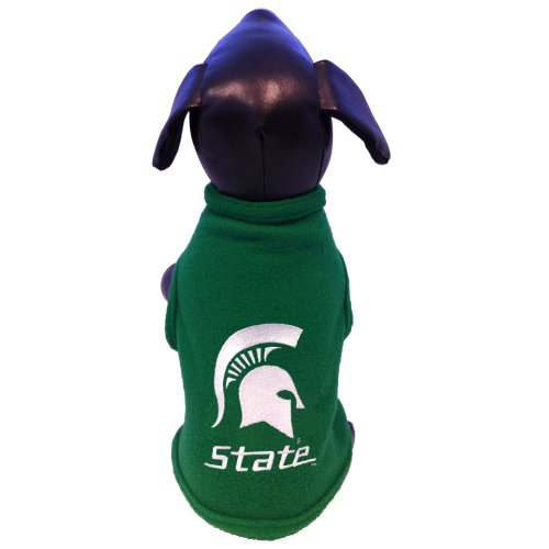 NCAA Michigan State Spartans Sleeveless Polar Fleece Dog Sweatshirt, Small