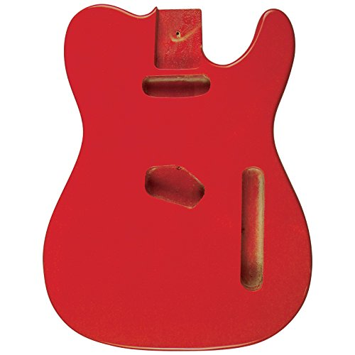 Golden Gate Guitar Bodies - Golden Gate S-304 Vintage T Style Electric Guitar Body - Fiesta Red