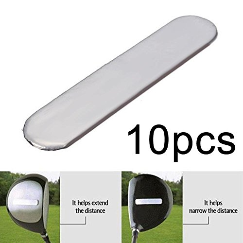 Niome 10pcs 3g Lead Tape to Add Swing Weight for Golf Club Tennis Racket Iron Putter