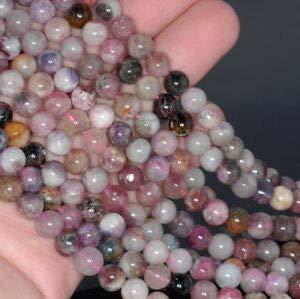 (5-6MM Tourmaline Gemstone Round Loose Beads 15.5