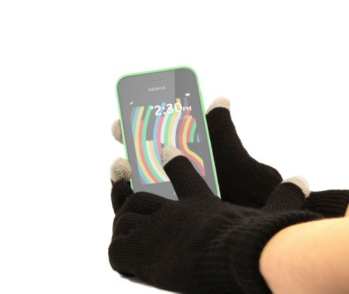 ack Touch Screen Gloves (Medium) for Nokia 220, Nokia Asha 230 ()